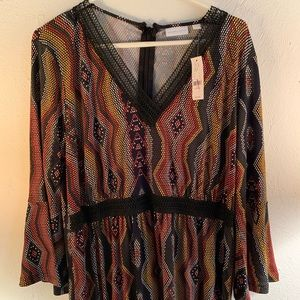 New York and Company patterned dress